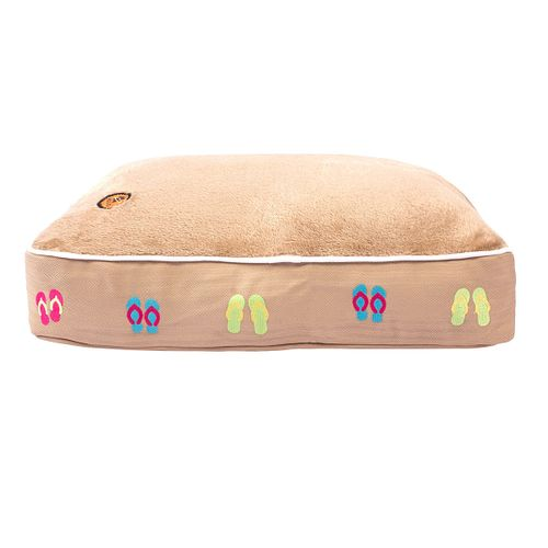 Halo Rectangular Dog Bed - Safari/Flip Flops