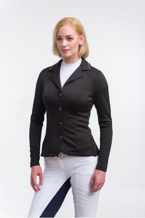 Cavalliera Women's Crystal Second Skin Show Jacket - Black