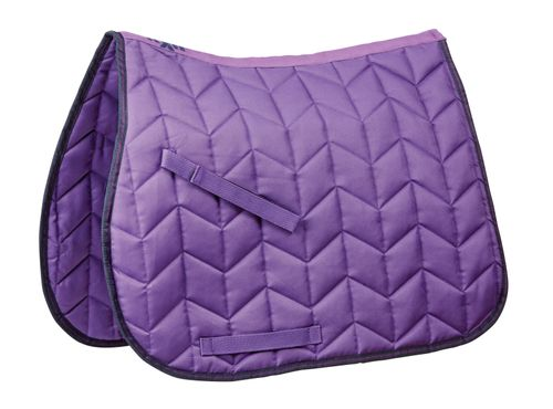 Saxon Element Quilted All Purpose Saddle Pad - Purple/Navy