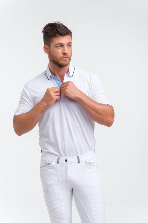 Cavalliera Men's London Short Sleeve Polo Shirt - White