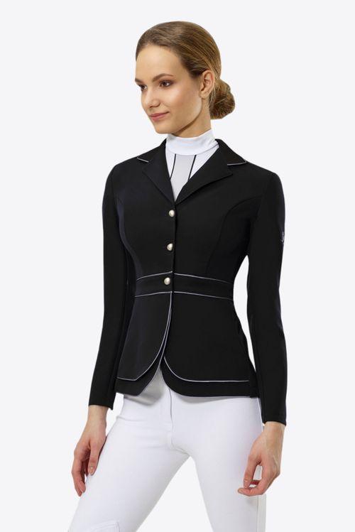 Cavalliera Women's Prime Show Jacket - Black/Grey