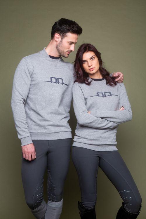 Alessandro Albanese Cotton Sweatshirt - Grey Melange
