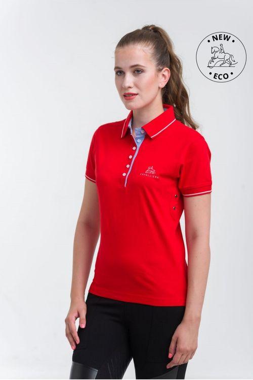 Cavalliera Women's London Cotton Polo Shirt - Red