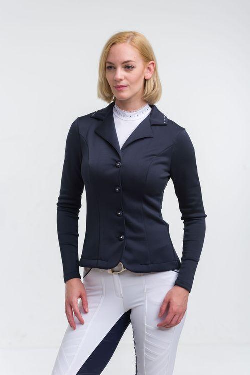 Cavalliera Women's Crystal Second Skin Show Jacket - Navy Blue