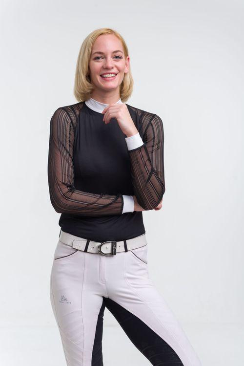 Cavalliera Women's Contessa Long Sleeve Show Shirt - Black