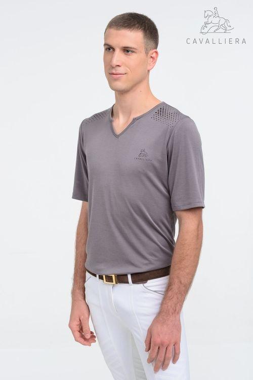 Cavalliera Men's Style Short Sleeve Tee Shirt - Grey