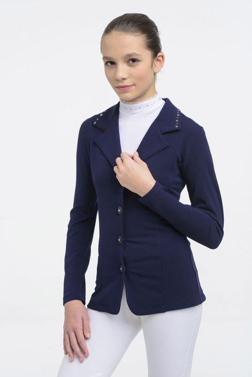 Cavalliera Kids' Crystal Second Skin Show Jacket - Navy Blue
