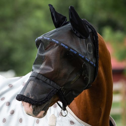 Horze Wire-Framed Fly Mask with Gap - Black