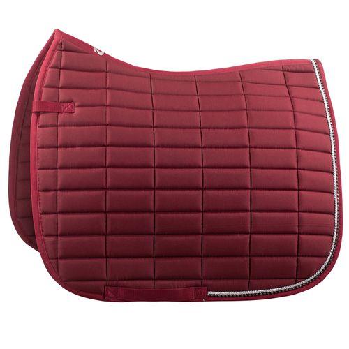 Horze Caesar Dressage Saddle Pad - Beet Red