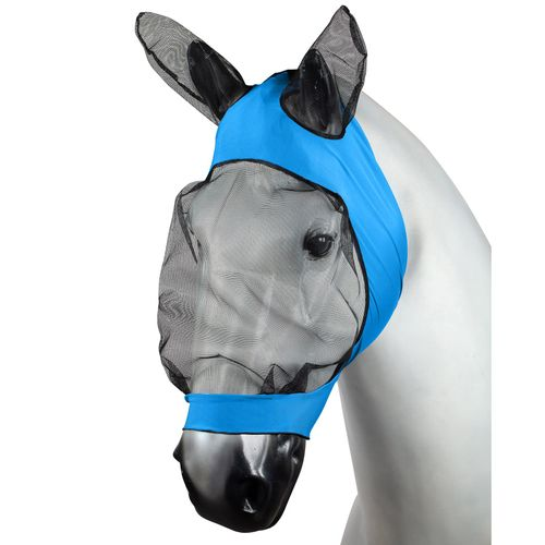 Horze Soft Stretch Fly Mask - Blue