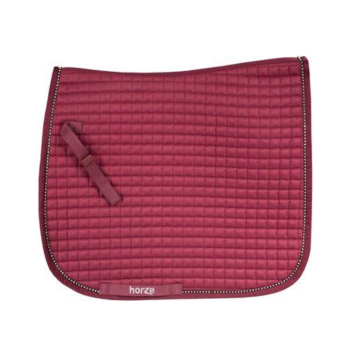 Horze Duchess Dressage Saddle Pad - Port Royale Dark Red