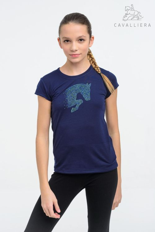 Cavalliera Kids' Little Jumper Short Sleeve Shirt - Navy Blue
