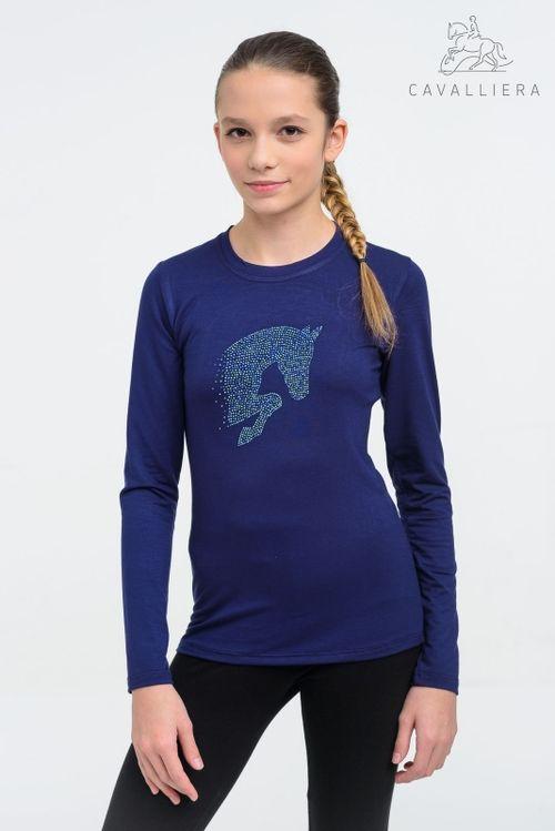 Cavalliera Kids' Little Jumper Long Sleeve Shirt - Navy Blue