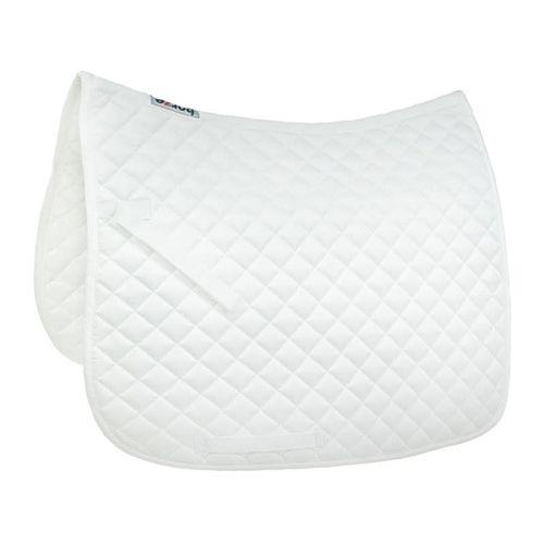 Horze Prinze Dressage Saddle Pad - White/White