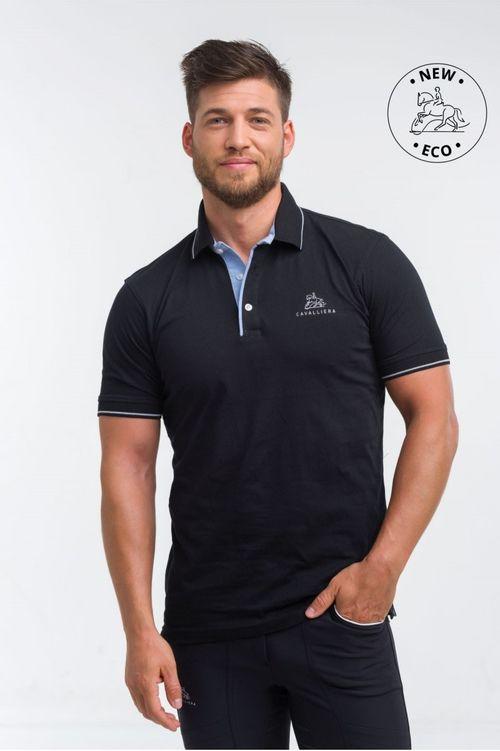 Cavalliera Men's London Cotton Polo Shirt - Black