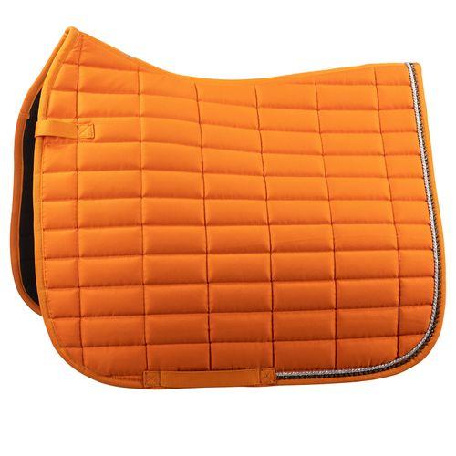 Horze Caesar Dressage Saddle Pad - Orange Pepper