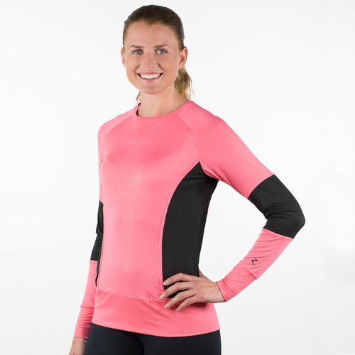 Horze Women's Milan Mesh Sweater - Sunkissed Coral Pink
