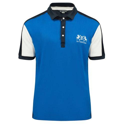 B Vertigo Men's Garreth Pique Shirt - Olympian Blue