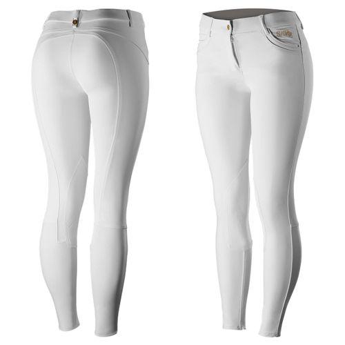 B Vertigo Women's Nicola Knee Patch Breeches - Bright White