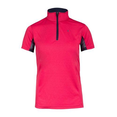 Horze Kids' Technical Sun Shirt - Pink/Peacoat Dark Blue