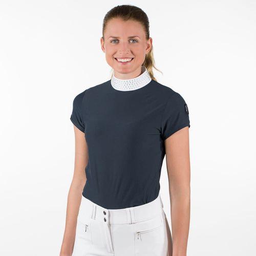 Horze Women's Mirielle Short Sleeve Show Shirt - Dark Navy