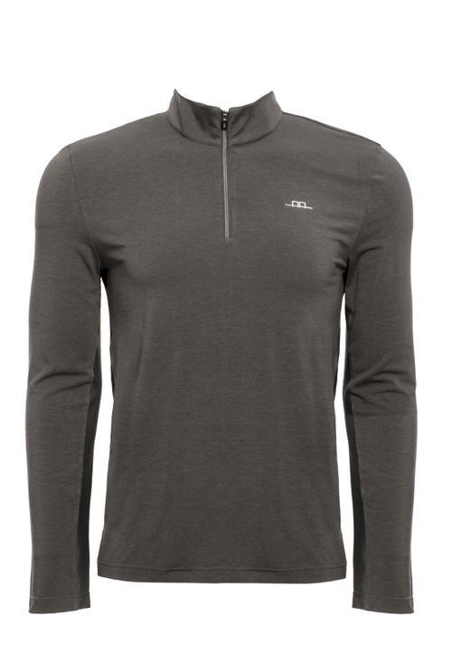 Alessandro Albanese Men's Cleancool Half Zip Long Sleeve Shirt - Grey