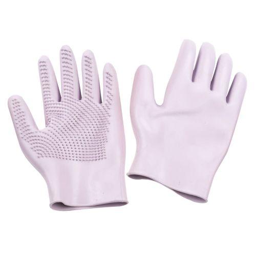 Equi-Essentials Curve Finger Groom Gloves Pair - Lavender