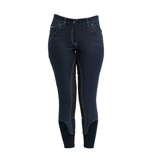 Horseware Women's Denim Full Seat Breeches - Denim Blue