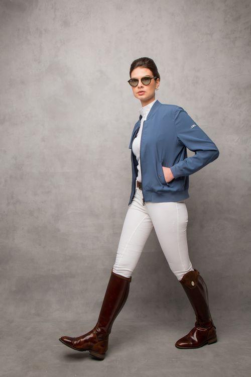 Alessandro Albanese Women's Luxury Silk Blouson Jacket - Aviation Blue