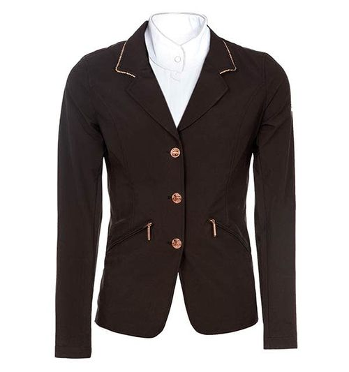 Horseware Women's Embellished Competition Jacket - Black/Rose Gold