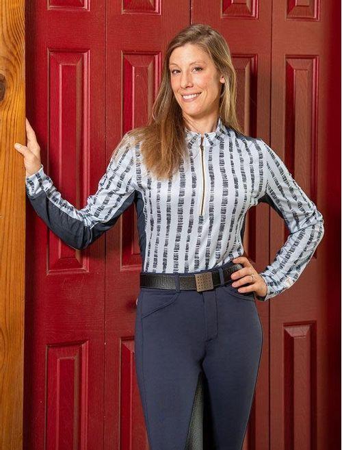 FITS Women's Summer Long Sleeve Tech Shirt - Sky Lattice