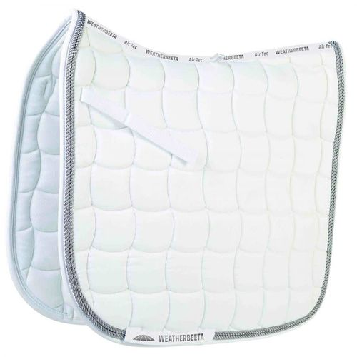 Weatherbeeta Performance Dressage Pad - White/Silver/Silver