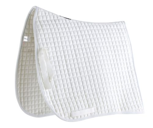 Roma Swallow Tail Competition Dressage Saddle Pad - White