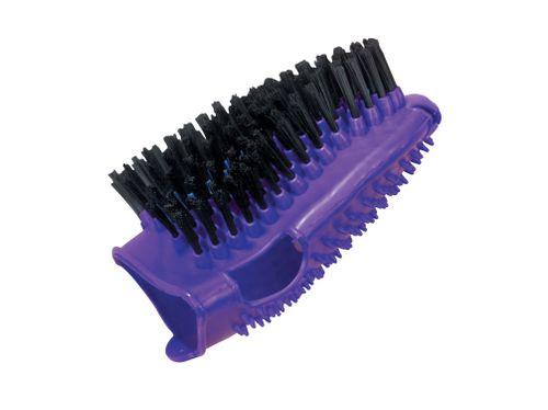 Roma Bristle Back Grooming Mitt - Purple