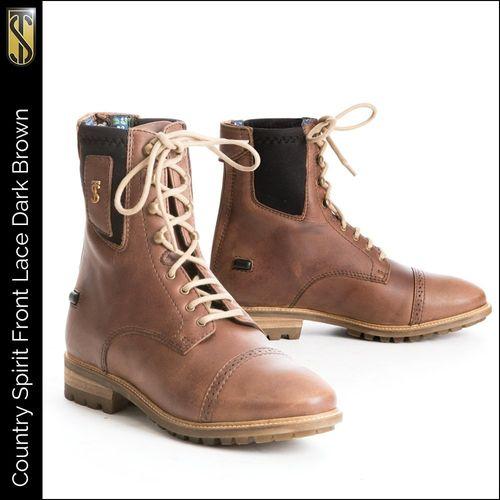 Tredstep Spirit Lace Short Country Boot - Dark Brown