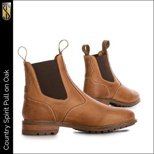 Tredstep Spirit Pull On Short Country Boot - Oak