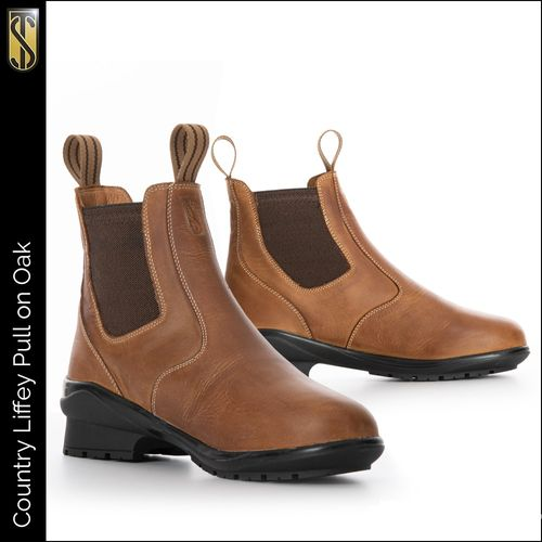 Tredstep Liffey Pull On Short Country Boot - Oak