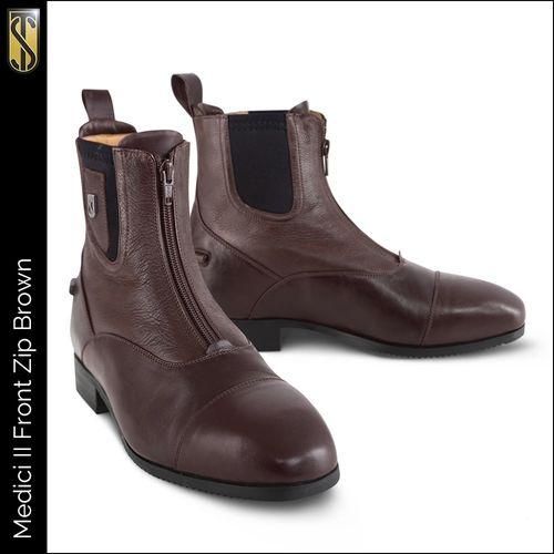 Tredstep Medici II Front Zip Paddock Boot - Brown