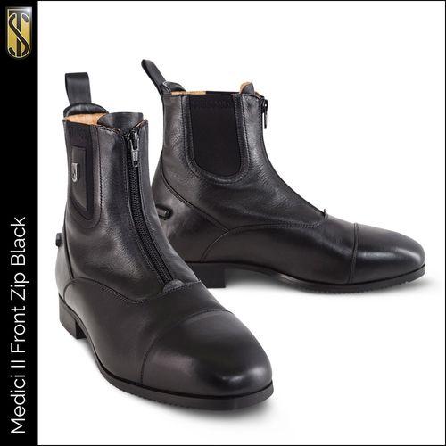 Tredstep Medici II Front Zip Paddock Boot - Black