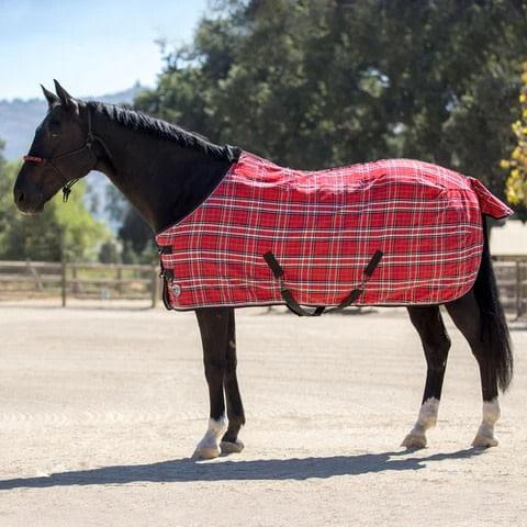 Kensington Poly Cotton SureFit Stable Sheet - Deluxe Red