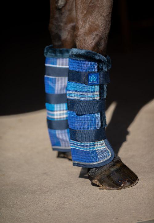Kensington Protective Fly Boots w/Fleece Trim - Kentucky Blue