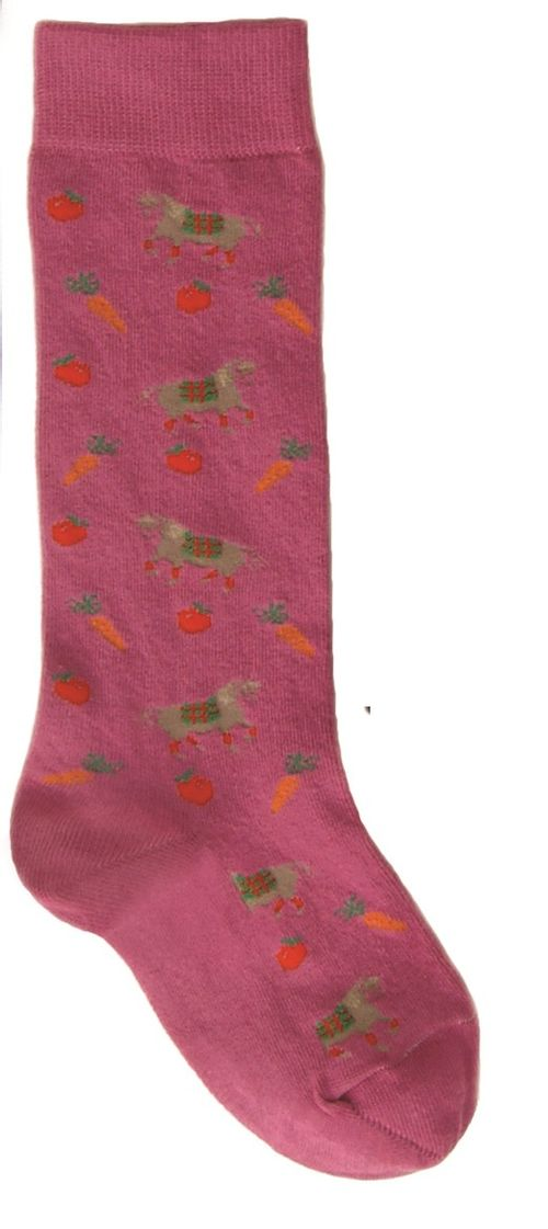 Ovation Kids' Pony Crew Socks - Bubble Gum