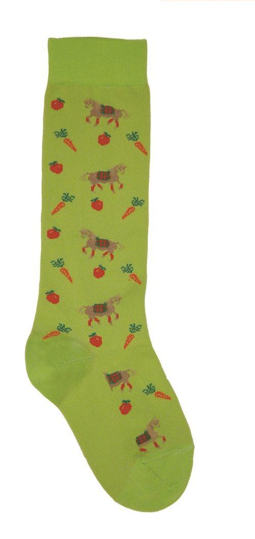 Ovation Kids' Pony Crew Socks - Neon Green