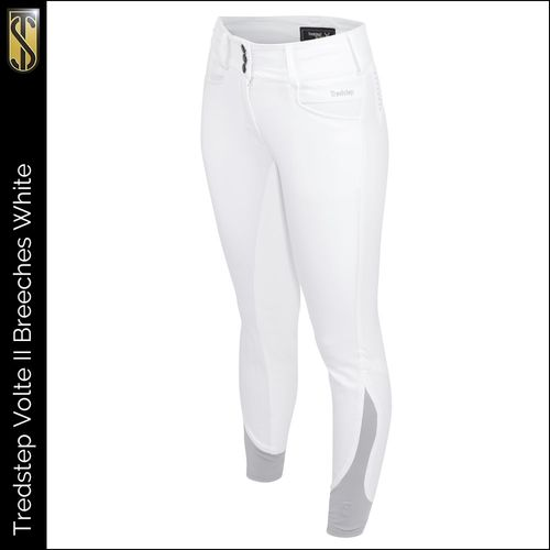 Tredstep Women's Solo Volte II Full Seat Breeches - White