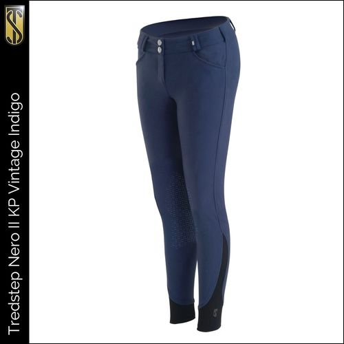 Tredstep Women's Nero II Knee Patch Breeches - Vintage Indigo
