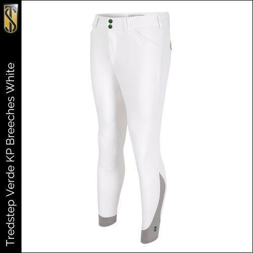 Tredstep Men's Verde Knee Patches Breeches - White