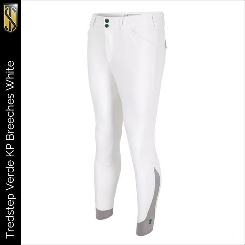 Tredstep Men's Verde Knee Patches Breeches - White (((11853))) <<<en-US>>>