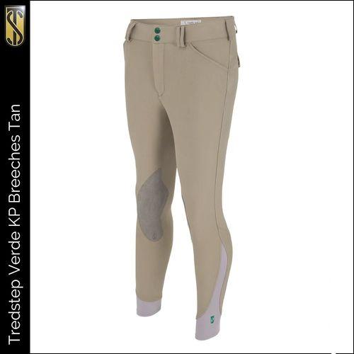 Tredstep Men's Verde Knee Patches Breeches - Tan