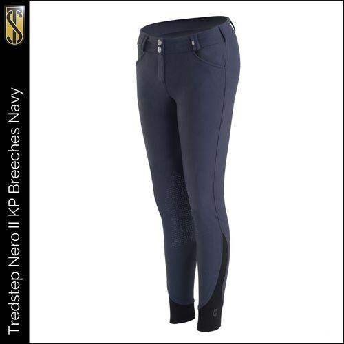 Tredstep Women's Nero II Knee Patch Breeches - Navy