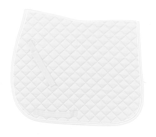 Ovation Coolmax Piped Dressage Pad - White/White